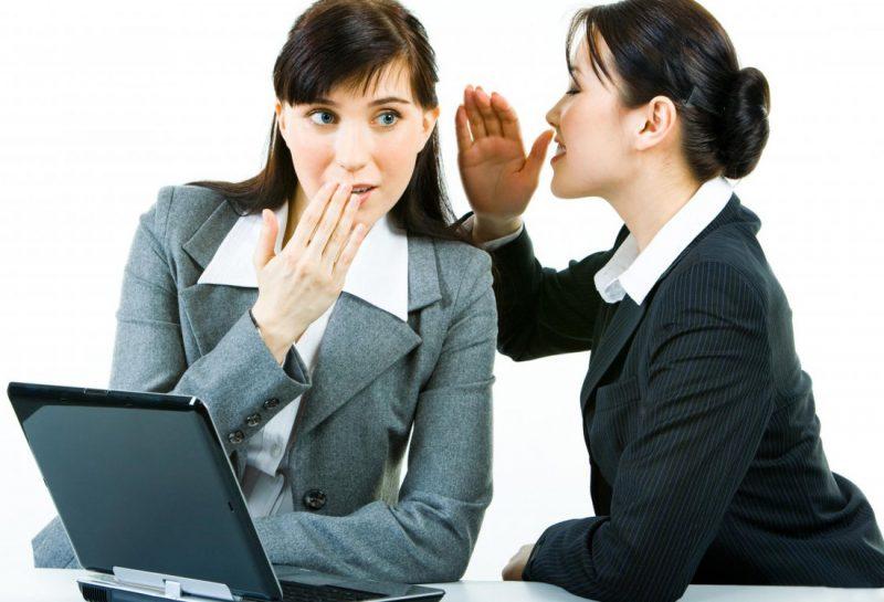 Самый опасный тип женщин на работе - сплетницы